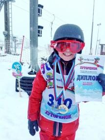 ребенок из Рязани на лыжах
